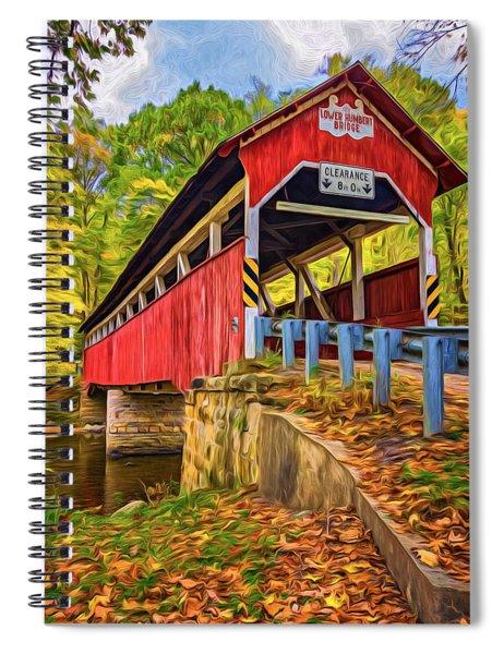 Lower Humbert Covered Bridge 2 - Paint Spiral Notebook