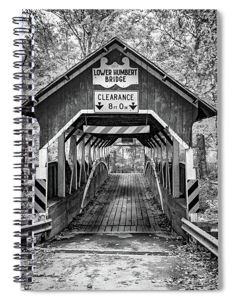 Lower Humbert Covered Bridge 5 Bw Spiral Notebook