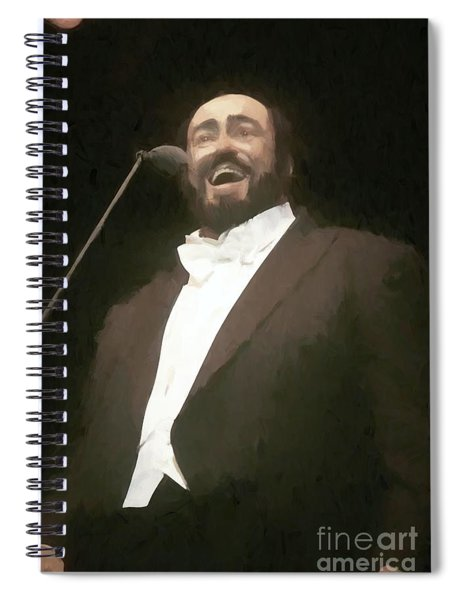 Luciano Pavarotti Painting  Spiral Notebook