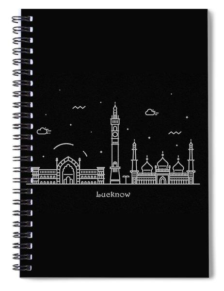 Lucknow Skyline Travel Poster Spiral Notebook