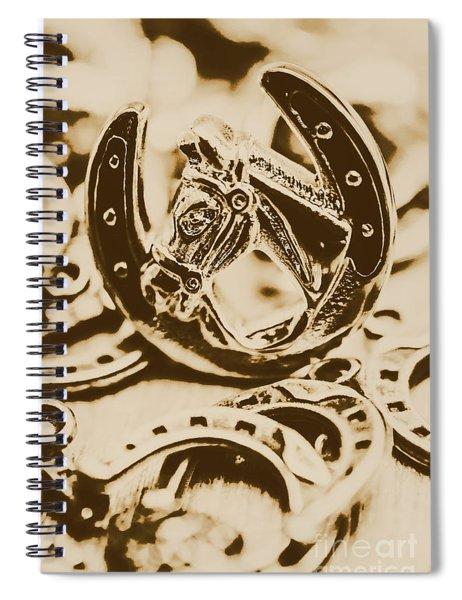 Lucky Cowboys Charm Spiral Notebook