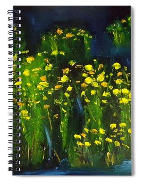 Lumonious Buds     17 Spiral Notebook