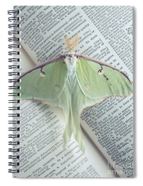 Luna Moth On Book Spiral Notebook
