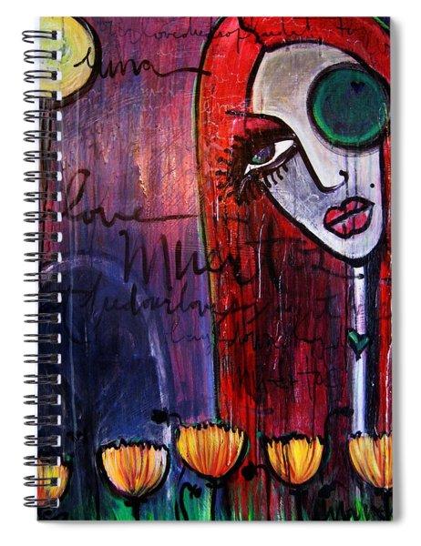 Luna Our Love Muertos Spiral Notebook