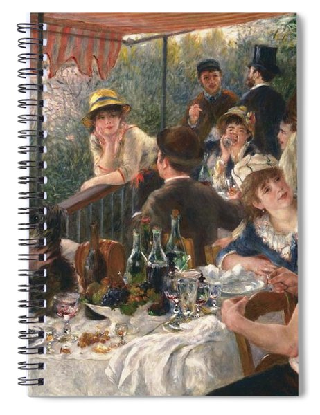 Luncheon Of The Boating Party By Renoir Spiral Notebook