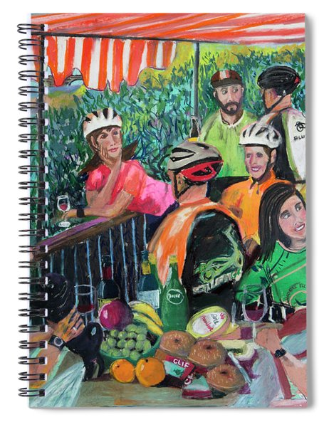 Pastel-luncheon Of The Cycling Party Spiral Notebook