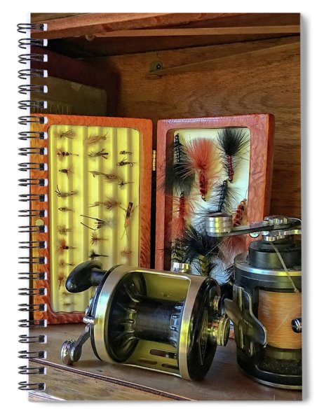 Lures And Reels Spiral Notebook
