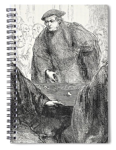 Luther And Zwingle Discussing At Marburg Spiral Notebook