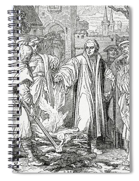 Luther Burning The Papal Bull Spiral Notebook