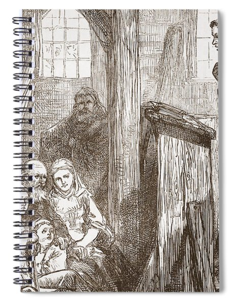 Luther Preaching In The Old Wooden Church At Wittemberg Spiral Notebook