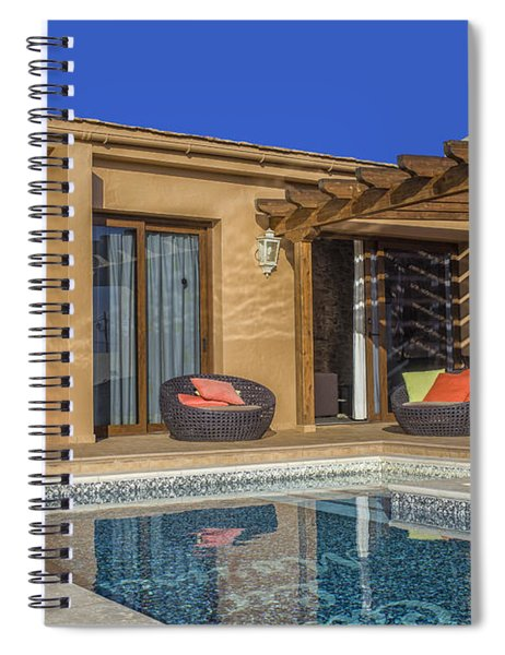 Luxurious House With Swimming Pool Spiral Notebook