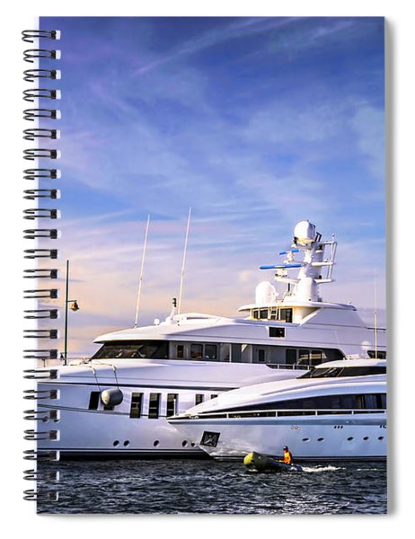Luxury Yachts Spiral Notebook