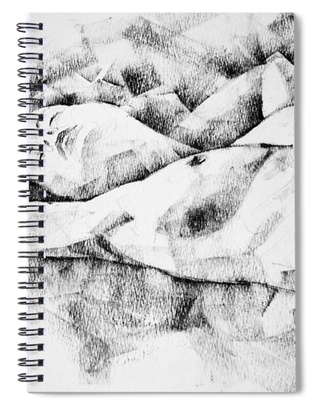Lying Woman Figure Drawing Spiral Notebook
