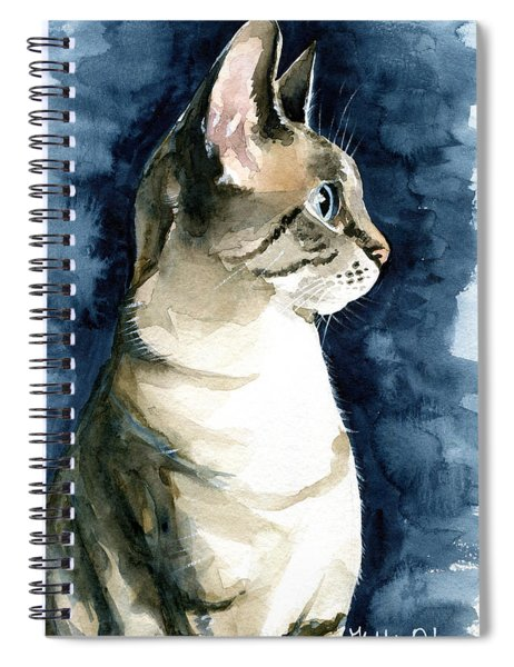 Lynx Point Cat Portrait Spiral Notebook