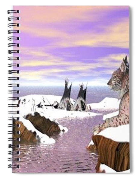 Lynx Watcher Render Spiral Notebook
