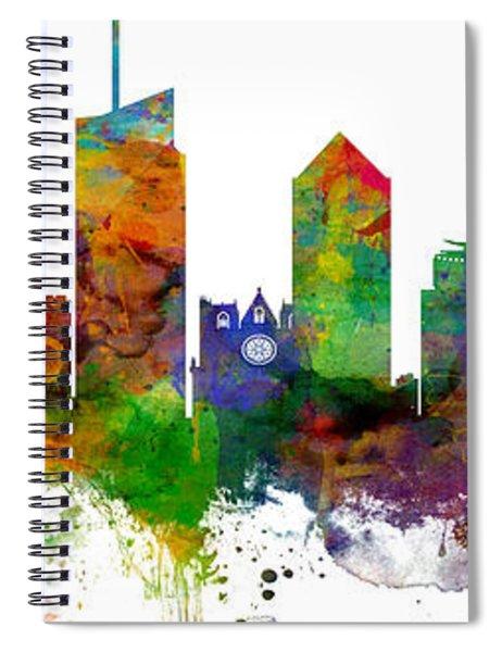 Lyon France Skyline Panoramic Custom Spiral Notebook