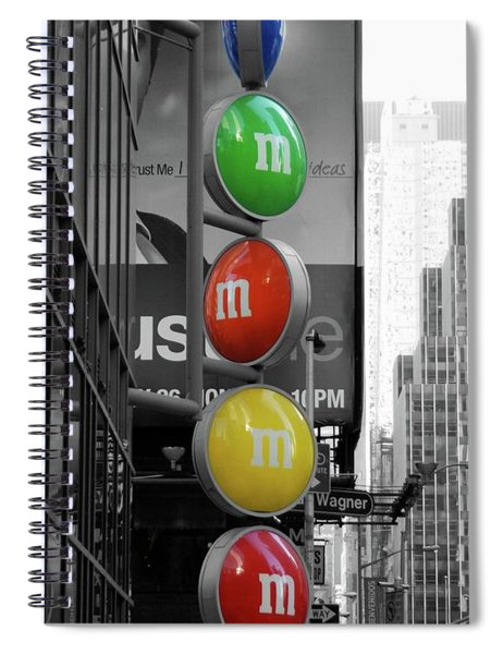 M And Ms In New York City Spiral Notebook