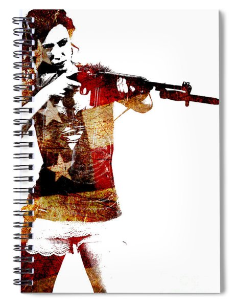 M1 Carbine And Bayonet Spiral Notebook