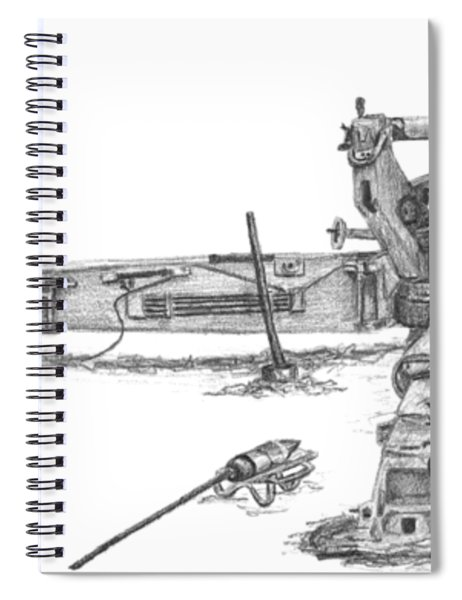 M198 Howitzer - Natural Sized Prints Spiral Notebook