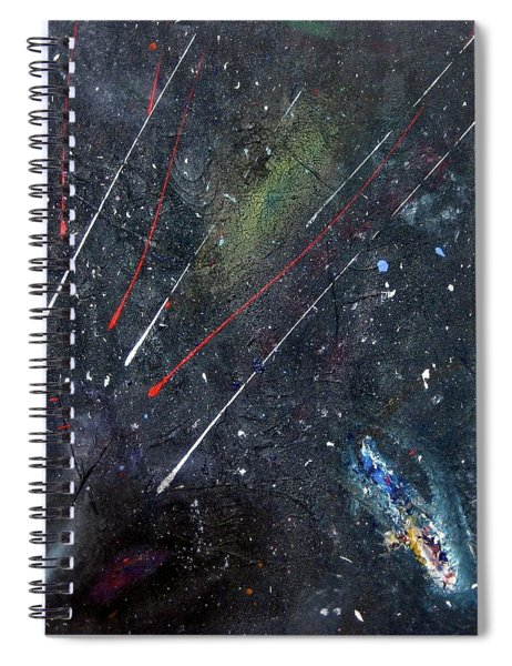 Spiral Notebook featuring the painting M51 by Michael Lucarelli