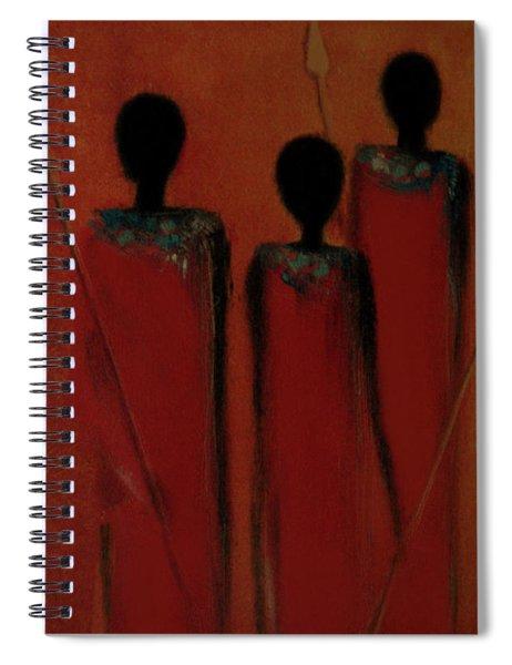 Maasai Trio  Spiral Notebook