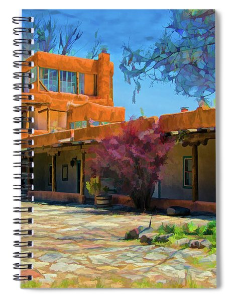 Mabel's Courtyard As Oil Spiral Notebook
