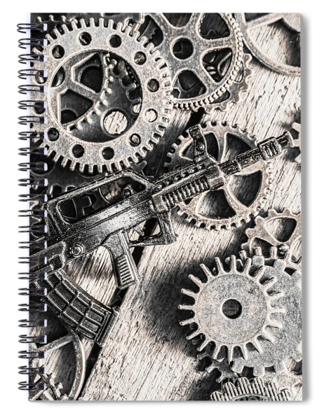 Machines Of Military Precision  Spiral Notebook
