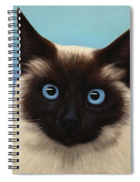 Spiral Notebook featuring the painting Machka 2001 by James W Johnson