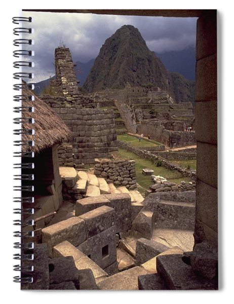 Spiral Notebook featuring the photograph Machu Picchu by Travel Pics