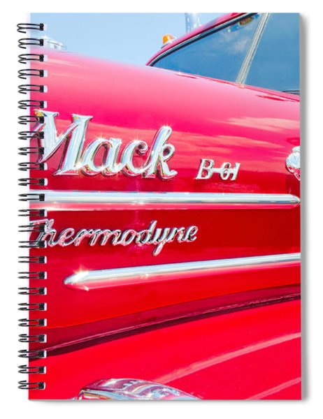 Mack Truck Hood Badges Spiral Notebook
