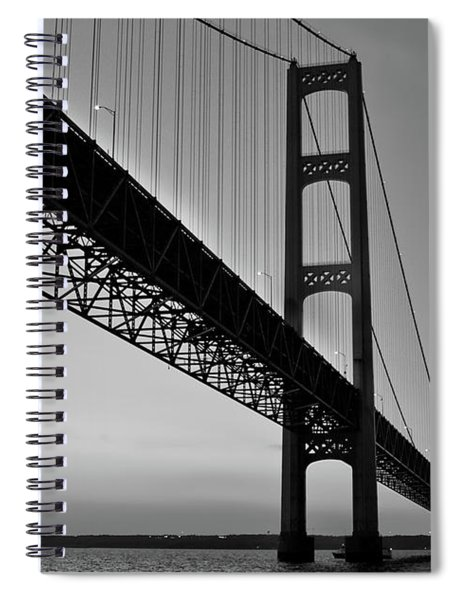 Mackinac Bridge At Sunset Spiral Notebook