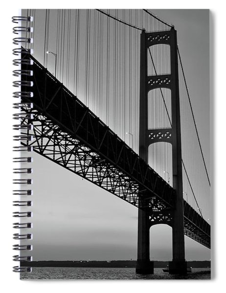 Mackinac Bridge At Sunset Spiral Notebook