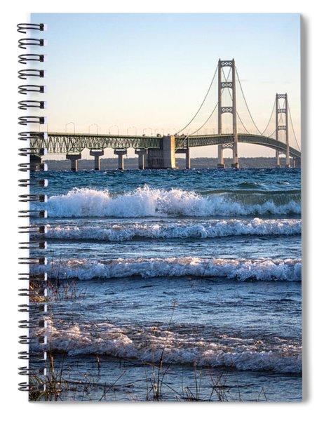 Mackinac Bridge Michigan Spiral Notebook