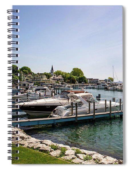 Mackinac Island Marina Spiral Notebook