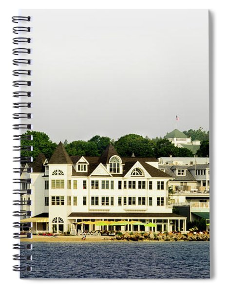 Mackinac Island View From The Boat Spiral Notebook