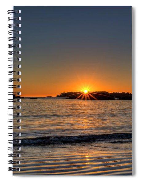 Mackinsie Beach Sun Burst Spiral Notebook