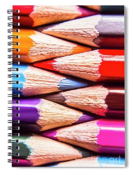 Macro Coloured Pencil Crossover Spiral Notebook