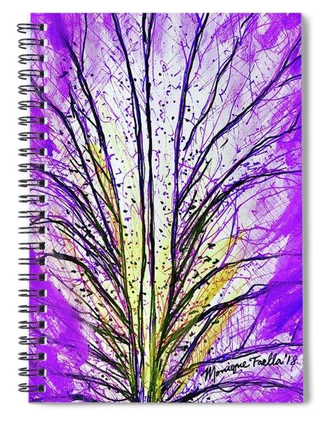 Macro Iris Petal Spiral Notebook