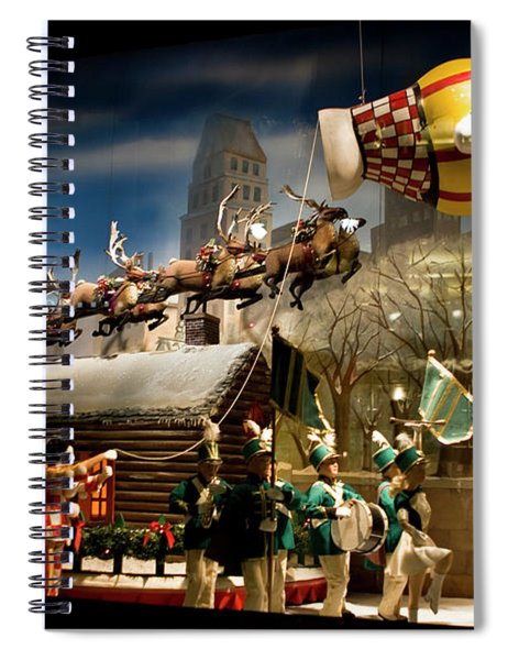 Spiral Notebook featuring the photograph Macy's Miracle On 34th Street Christmas Window by Lorraine Devon Wilke