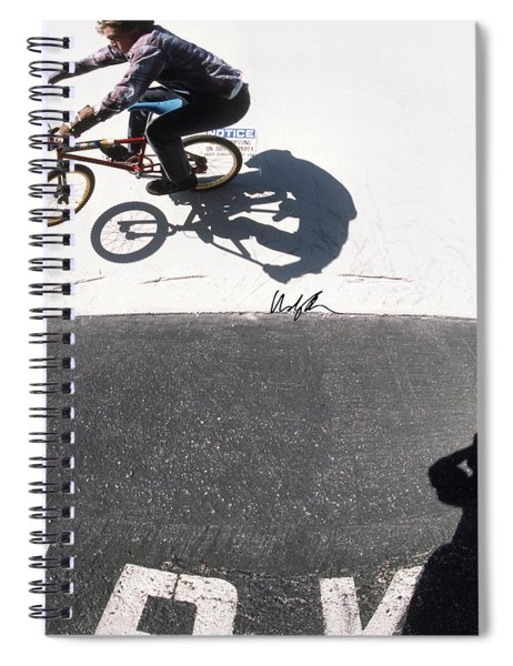 Mad Dog On The Wall Spiral Notebook