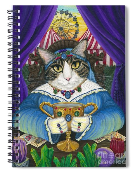 Madame Zoe Teller Of Fortunes - Queen Of Cups Spiral Notebook