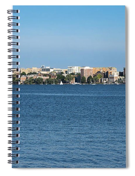Madison Skyline From Picnic Point Spiral Notebook