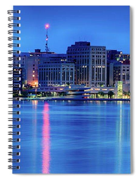 Madison Skyline Reflection Spiral Notebook