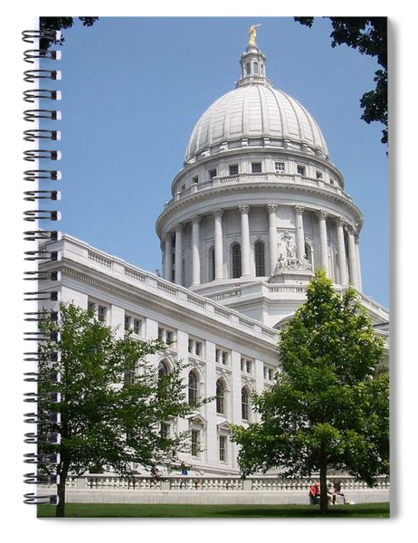 Madison Wi State Capitol Spiral Notebook