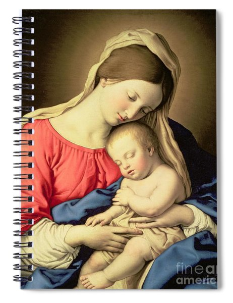 Madonna And Child Spiral Notebook by Il Sassoferrato