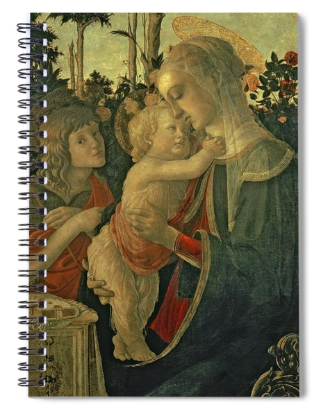 Madonna And Child With St. John The Baptist Spiral Notebook