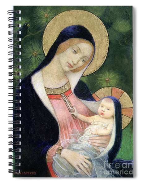 Madonna Of The Fir Tree Spiral Notebook