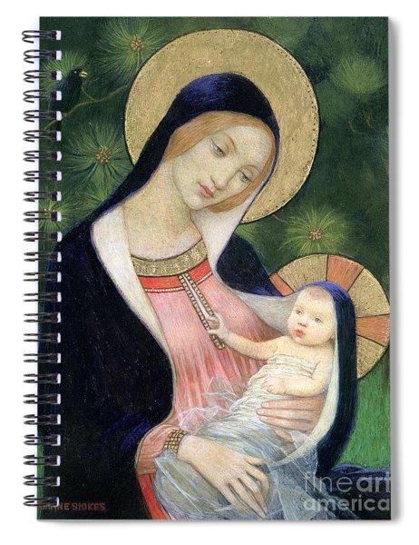 Madonna Of The Fir Tree Spiral Notebook