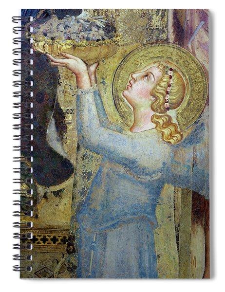 Maesta  Angel Offering Flowers To The Virgin Spiral Notebook