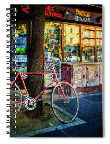 Magazine Stand Bicycle Spiral Notebook